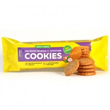 SNAQ FABRIQ Печенье овсяное, 180гр (9шт) С орехами