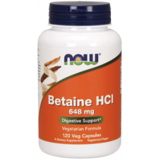 Betaine HCl 648 mg, 120 caps