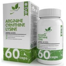 ARGININE, ORNITHINE, LYSINE, 60 caps