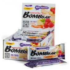 BOMBBAR протеиновый батончик, 60 гр (Малиновый чизкейк)