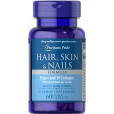 Hair, Skin & Nails Formula, 60capl