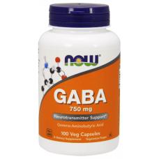 GABA 750mg, 100 veg caps