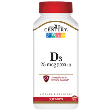 Vitamin D3 1000IU, 500 tabs