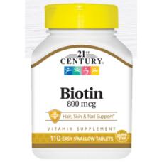 Biotin, 800 mcg, 110 tabs