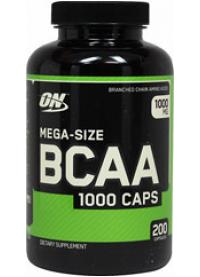 optimum nutrition bcaa 1000, 200 caps
