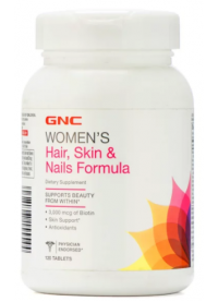 gnc hair, skin & nails formula, 120 tabs