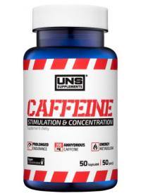 uns supplements caffeine 200mg, 50caps
